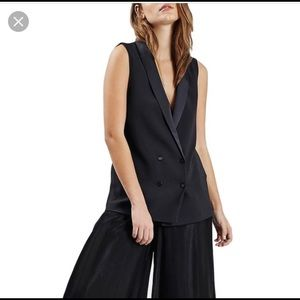 Topshop Double Breasted Tuxedo Vest NWT Size 2